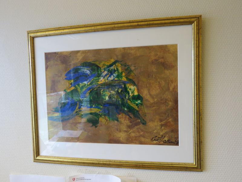Knut Larsen - 3 stk måleri utan tittel