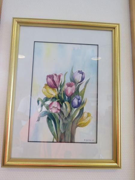 Kari Gjerme - Motiv: Tulipanar i vase
