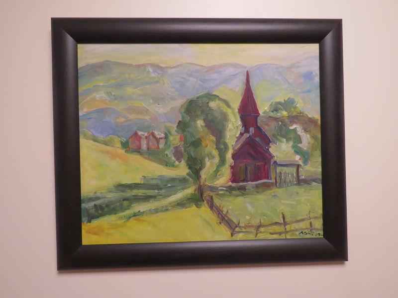 Aske - Kyrkje med skog