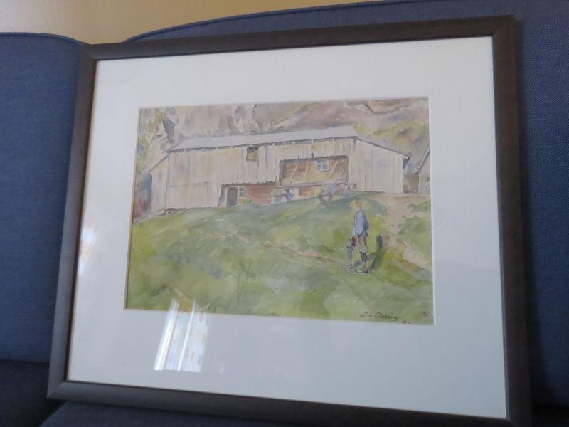 Johannes Lidsheim - Fleire nyinnramma akvarellar