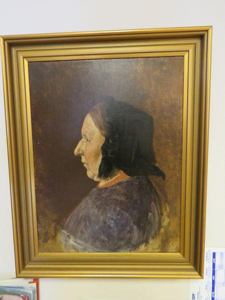 Nils Bjørgum 1864-1949 - Portrett av mor (Brita Bjørgum)