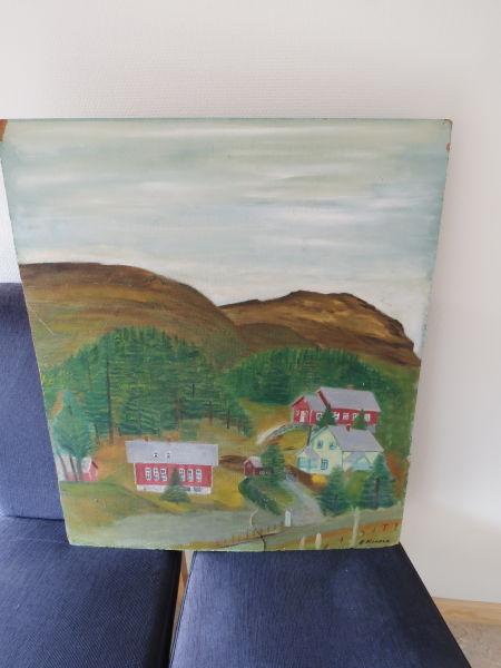Hans Hansen - Motiv: Skulen på Framnes